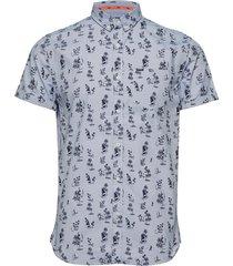 premium shoreditch s/s shirt kortärmad skjorta blå superdry