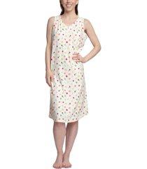 muk luks dream knit printed sleep shirt nightgown