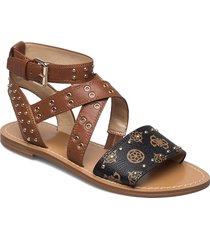cevie/sandalo /leather shoes summer shoes flat sandals brun guess