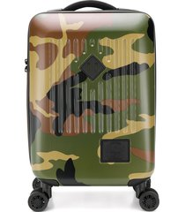 herschel supply co. camouflage print travel carry-on - green