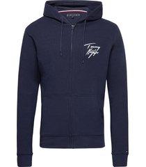 fz hoodie hoodie trui blauw tommy hilfiger