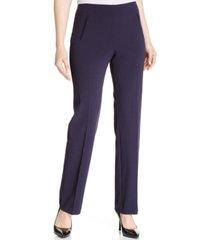 style & co petite straight-leg tummy-control pants