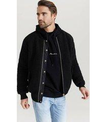 bomberjacka reversible pile bomber jacket