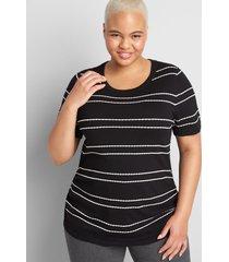 lane bryant women's lane essentials ruched-side sweater 18/20 black