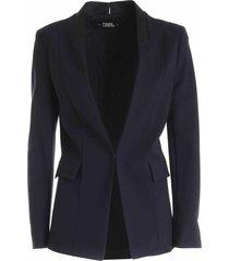 punto jacket w/ satin lapel