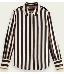 scotch & soda gestreepte blouse met lange mouwen