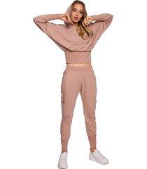 spodnie dresowe-mokka(m-591)