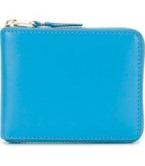 comme des garçons wallet blue leather wallet
