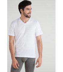 camiseta interior acanalada blanco s