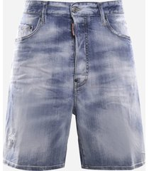 dsquared2 stretch cotton denim shorts
