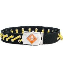 dsquared2 woven strap belt - black