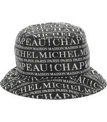 maison michel jason all over logo hat
