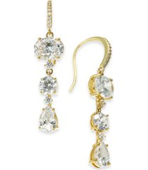 eliot danori glass stone triple drop earrings, created for macy's