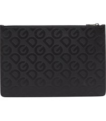 dolce & gabbana pouch with allover logo