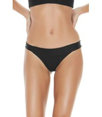 women's l space veronica ribbed bikini bottoms, size small - black