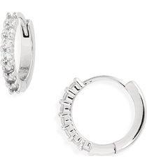 women's nordstrom crystal huggie hoop earrings
