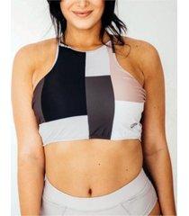 nani swimwear women's tie back crop swim top women's swimsuit