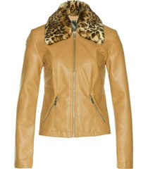 giacca in similpelle (marrone) - bpc selection