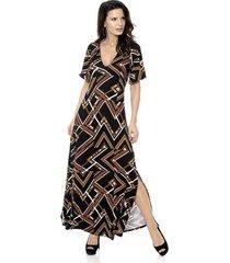 vestido bisô longo étnico