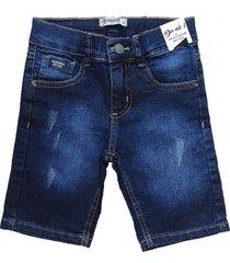 bermuda jeans shorts manabana menino azul