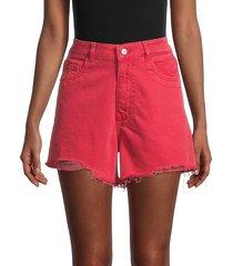 dl1961 women's cleo high-rise distressed denim shorts - chrysanthemum - size 32 (10-12)