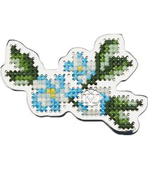 maison michel marlene embroidered floral brooche - silver