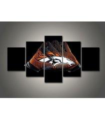 5 pcs denver broncos gloves canvas prints painting wall art nfl sport home decor