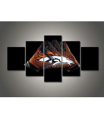 5 pcs denver broncos gloves canvas prints painting wall art nfl sport home decor