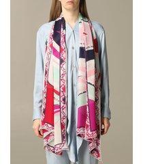 emilio pucci neck scarf emilio pucci printed silk scarf