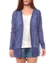 vest vero moda coon ls cardigan 10111383 bleu