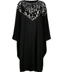 mm6 maison margiela sequin trim cape dress - black