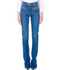jeans a trombetta con accessorio pj01s11e2