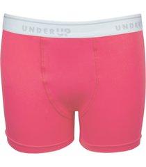 cueca under up boxer hi-tech colors kids coral - rosa - menino - poliamida - dafiti