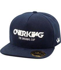 bonã© overking aba reta snapback the original cap azul - azul - masculino - dafiti