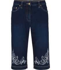 bermuda di jeans con bordura stampata e cinta comoda (nero) - bpc bonprix collection