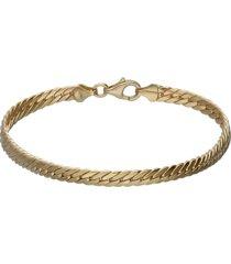 bracciale in oro giallo a maglie piatte per donna