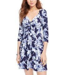 planet gold juniors' blue tie-dye dress