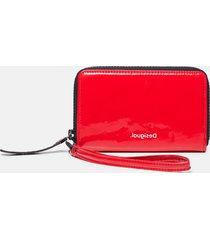 wallet vinyl bracelet - red - u