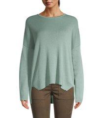eileen fisher women's organic cotton box-top sweater - dark pearl - size m