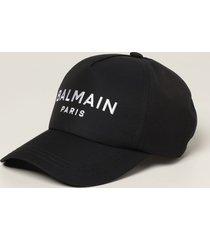 balmain hat balmain baseball cap with embroidered logo