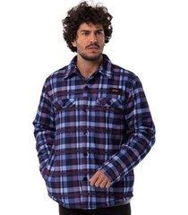 camisa mnaga longa long island xadrez masculino