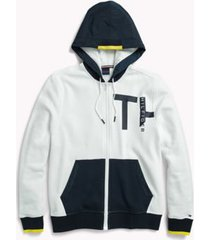 tommy hilfiger men's adaptive zip sweatshirt bright white - xl