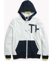 tommy hilfiger men's adaptive zip sweatshirt bright white - xl