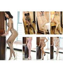 woman mesh bodystocking see-through transparent catsuit bodysuit skinny unitard