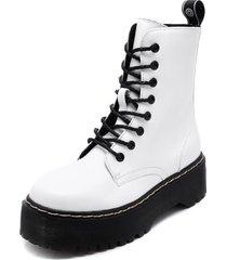 botín blanco chalada