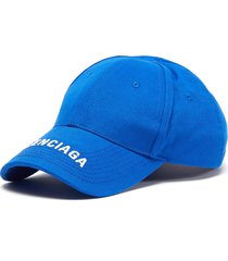 logo embroidered visor baseball cap