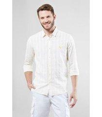 camisa regular reserva textura horizontal verano masculina