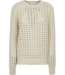bottega veneta open cable knit sweater