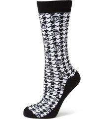 men's cufflinks, inc. mandalorian helmet houndstooth crew socks, size one size - black