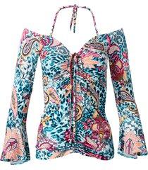 maglia con maniche a campana (blu) - bodyflirt boutique